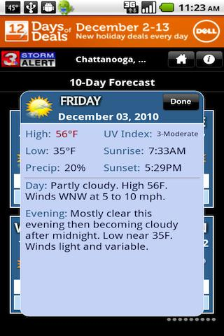 Weather Android Application - WRCB Radar